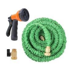 25FT  to 100FT Expandable Garden Hose with Brass Connector and Spray Nozzle #Affiliate