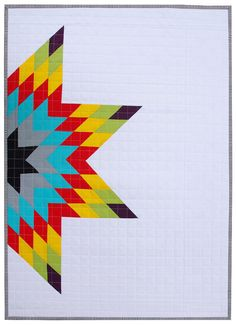 Modern Patchwork Baby Quilt  Half Lone Star by redpepperquilts