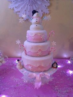 Fantastic cake at a Winter Wonderland party!   See more party ideas at CatchMyParty.com!  #partyideas #winterwonderland