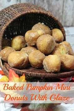 Baked Pumpkin Mini Donuts With Glaze Recipe - From Val's Kitchen