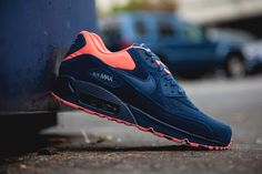 new concept e0a27 6aea5 Nike Air Max 90 PRM Brave Blue Atomic Pink