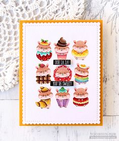"""Brand new from Clearly Besotted """"Sweet Treats"""" stamp!"""