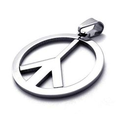 Peace Sign Pendant World Freedom Chain Fashion Stainless Metal Necklace