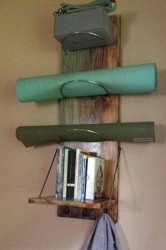 Yoga Mat Storage Shelf - yoga, yoga supplies, yoga storage, yoga mat, book…