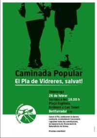 """Caminada popular que organitza l´entitat """"Salvem el Pla"""" per celebrar la victòria davant del Tribunal Suprem"""" contra la Generalitat de Catalunya. Després de 15 anys de lluita han donat la raó a """"Salvem el Pla"""" i l´ANG, ens agradaria compartir-ho amb tots els nostres socis."""