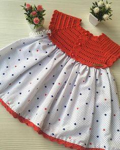 Der Neue : New model, new color, new fabric . Sundress Pattern, Dress Patterns, Toddler Dress, Baby Dress, Crochet For Kids, Crochet Baby, Mode Outfits, Girl Outfits, Little Girl Dresses
