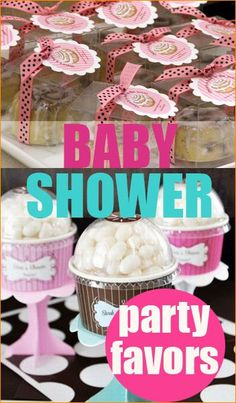 Baby Shower Party Favors.  Thank everyone with these insanely creative party favors.  Cute baby shower ideas for girls or boys.