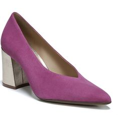 Naturalizer Hope Pointy Toe Pump in fuchsia pink Suede Pumps, Women's Pumps, Active Wear For Women, Block Heels, Footwear, Nordstrom, Loafers, Toe, Chic