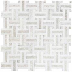 Jeffrey Court, Windswept 13 in. x 13 in. x 8 mm Marble Mosaic Wall Tile, 99644 at The Home Depot - Tablet Mosaic Wall Tiles, Marble Mosaic, Backsplash Tile, Tiling, Basket Weave Tile, Basket Weaving, Shower Floor, Tile Floor, Home Depot