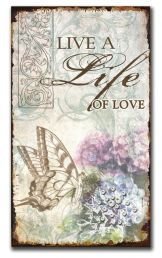 PLAQUE:  LIVE A LIFE (VER034). Available @ Faith4u Book and GIFT shop, Secunda. South Africa. Phone (017 34 7833 x 3) or email us faith4u@kruik.co.za to find out if we have stock in store. We can also place orders. Shalom Tilly and Odette