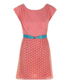 Take a look at this Pink Megan Belted Dress by Darling on #zulily today!