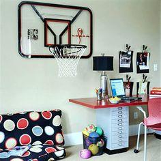 bedroom basketball hoo | basketball hoop table | Gavins room ...
