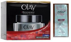 Olay Regenerist Advanced Antiaging Night Firming Cream Moisturize 50g 17oz w Free Loving Care Conditioner Packette -- You can get more details by clicking on the image.
