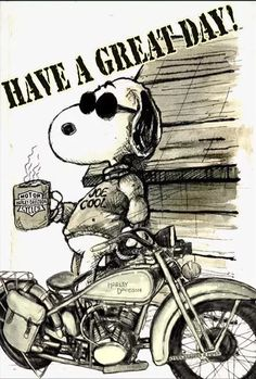 SNOOPY Have A Great Day Harley Davidson Bike HarleyDavidson Xjr Motorcycles Cars