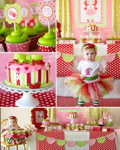 STRAWBERRY Shortcake Party Strawberry by LillianHopeDesigns