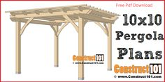 There are lots of pergola designs for you to choose from. You can choose the design based on various factors. First of all you have to decide where you are going to have your pergola and how much shade you want. Diy Pergola, Metal Pergola, Diy Deck, Pergola With Roof, Outdoor Pergola, Cheap Pergola, Wooden Pergola, Pergola Ideas, Metal Roof