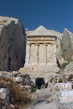 Zechariah's Monument - Kidron Valley israel. More scenic landscapes http://scenic-calendars.com/israel-wall-calendars.htm