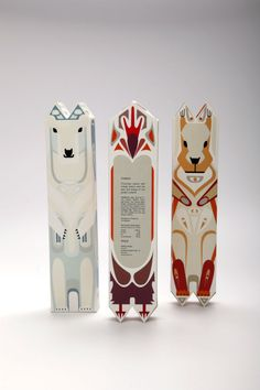 Packaging for Einem Chocolate reminds on totems of the animals. These are created by Julia Agisheva. Nice job and good looking packaging! Food Packaging Design, Paper Packaging, Pretty Packaging, Packaging Design Inspiration, Brand Packaging, Branding Design, Kids Packaging, Clever Packaging, Coffee Packaging