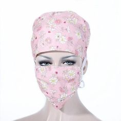 Colorful Unisex Medical Clothing for Women and Men, Doctors and Nurses Scrub Cap + Mask Medical Surgery Hat (free shipping)