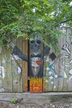 Fence from Voodoo Alley in New Orleans from Benjamin Simpson's blog Hodomania. Great photos and interesting story.