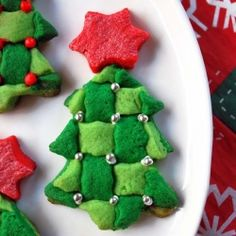 Christmas tree lace sugar cookie (in Spanish)