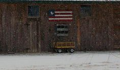 Flag by Misi. Barn at Cottonwood.