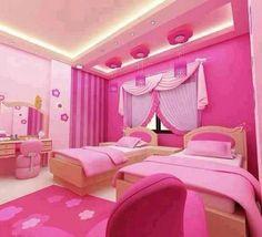 Pink Bedroom ideas Master Bedroom Bedroom for Teens and Girl Teenage Girl Bedroom Designs, Pink Bedroom Design, Pink Bedroom For Girls, Pink Bedroom Decor, Pink Bedrooms, Teenage Girl Bedrooms, Bedroom Ideas, Bedroom Pics, Bedroom Images