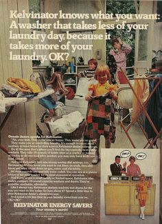 1977 Kelvinator Washer Dryer Vintage Print Ad