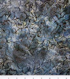 Batik Fabric-Grape Leaf Steel