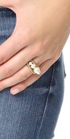 Marc Jacobs Imitation Pearl Rope Ring | SHOPBOP