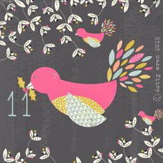 sue @ dottywrenstudio...day 11 advent