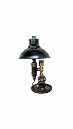 Giftsindustrial pipe lampsteampunk light fixturessteampunk teal bedside lamp table lamps for bedroom industrial lamps greentooth Images