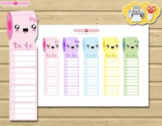Weekly To do List Tracker for Erin Condren Side Bar