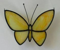 0360acebc919 New stained glass yellow butterfly by Linda   Gary Peterson
