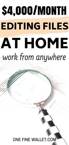 Start a new career editing files at home. Here's a little known work from home job that will make yo Earn Money From Home, Make Money Fast, Earn Money Online, Make Money Blogging, Money Tips, Saving Money, Work From Home Opportunities, Work From Home Tips, Work At Home