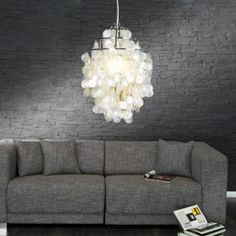 Invicta Interior Lampa Wisząca Shell Rings L - Decor, Interior, Interior Inspiration, Romantic Decor, Ceiling Lights, Disk Ceiling Light, Hanging Lamp, Girly Decor, Furnishings
