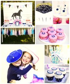 Pony themed birthday party with Such Cute Ideas via Kara's Party Ideas KarasPartyIdeas.com Horse Party, Cowgirl, Cowboy, Desserts and More! #ponyparty #horseparty #cowboyparty #cowgirlparty (1)