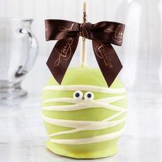 Dunked Mummy Caramel Apple w/ White Belgian Chocolate