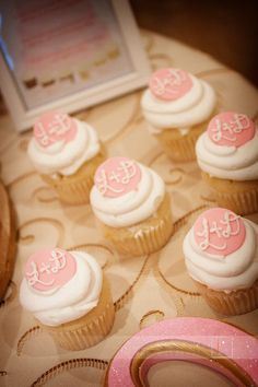A dozen adorable gluten-free cupcakes for guests who couldn't partake in the wedding cake