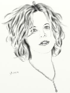 Meg Ryan (ceruza) 2016