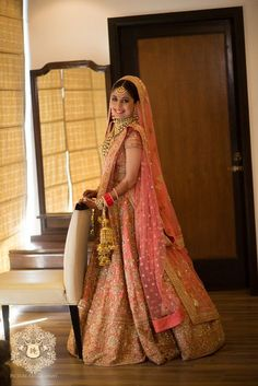 Get yourself dressed up with the latest lehenga designs online. Explore the collection that HappyShappy have. Select your favourite from the wide range of lehenga designs Sabyasachi Lehenga Bridal, Pink Bridal Lehenga, Wedding Lehnga, Indian Bridal Lehenga, Wedding Wear, Bridal Dupatta, Pink Lehenga, Lehenga Choli, Wedding Attire