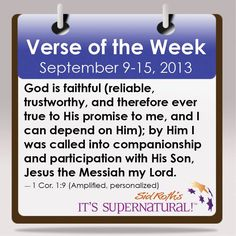 Your Verse of the Week for September 9-15, 2013! Read more at www.sidroth.org/verse #bible #verse #christianity #god #sidroth