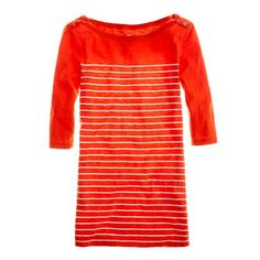 Painters stripe bateau tee in vibrant flame