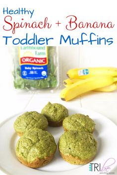 Healthy Spinach Banana Toddler Muffins Recipe #healthyrecipe #toddlerrecipe…