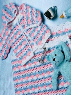 Free Crochet Baby Ensemble Pattern.