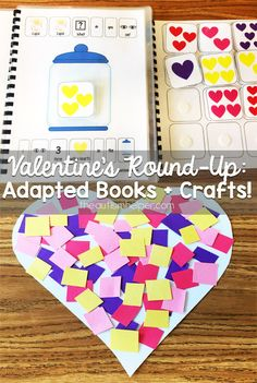 Find all the Valentine's adapted books, activities & crafts you'll need on the blog! From theautismhelper.com #theautismhelper