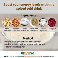 Boost your energy levels with this spiced cold drink. Fennel Seeds, Alternative Health, Energy Level, Rose Petals, Cold Drinks, Energy Drinks, Health Tips, Healthy Living, Spices