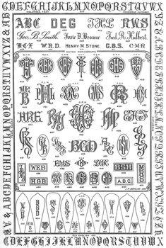 Inspiration - Jeffrey Herman Silversmith: Engraving Monogram Samples #2