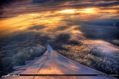 Heavens Light from Above the Clouds