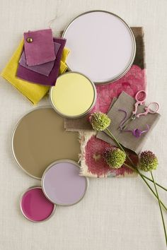 purple + chartreuse (Grant K. Gibson Interior Design for Better Homes & Gardens) by DebraGa